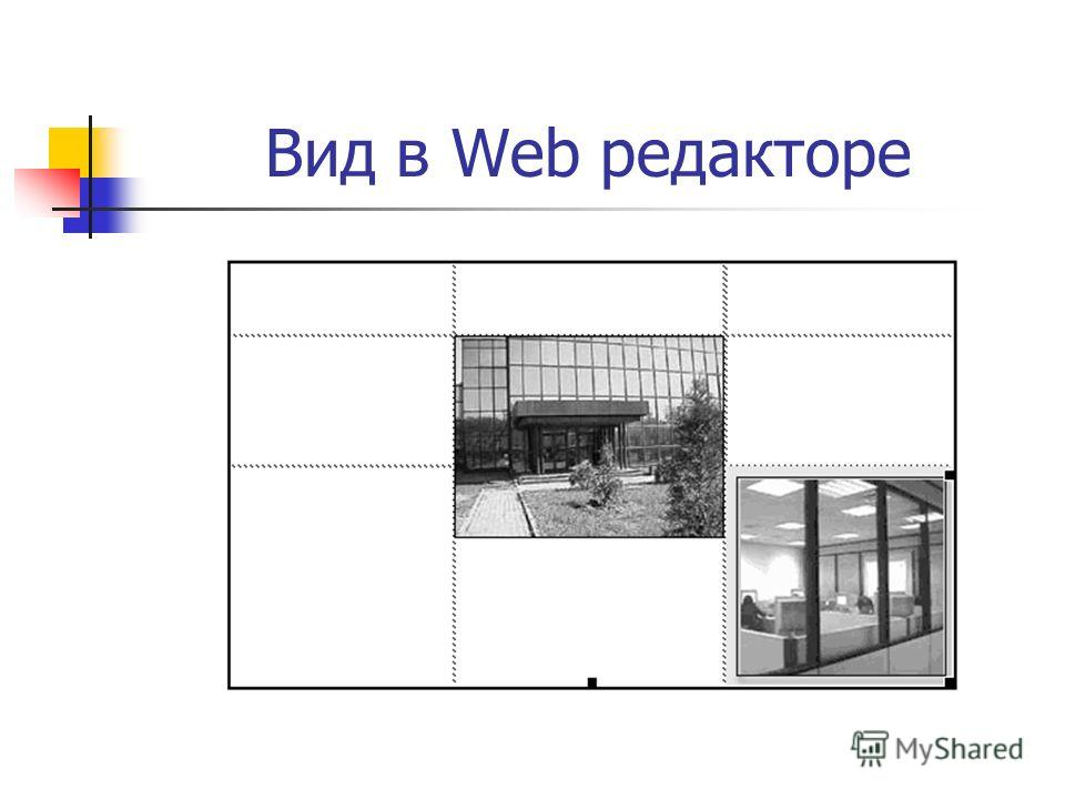 Вид в Web редакторе