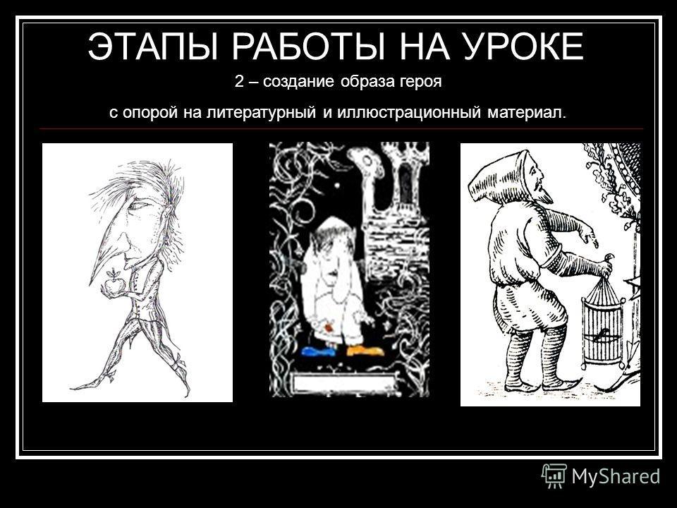 2 – создание образа героя с опорой на литературный и иллюстрационный материал. 1). В то время Маленький Мук был уже стариком, но рост имел крошечный. Вид у него был довольно смешной: на маленьком, тощем тельце торчала огромная голова, гораздо больше,