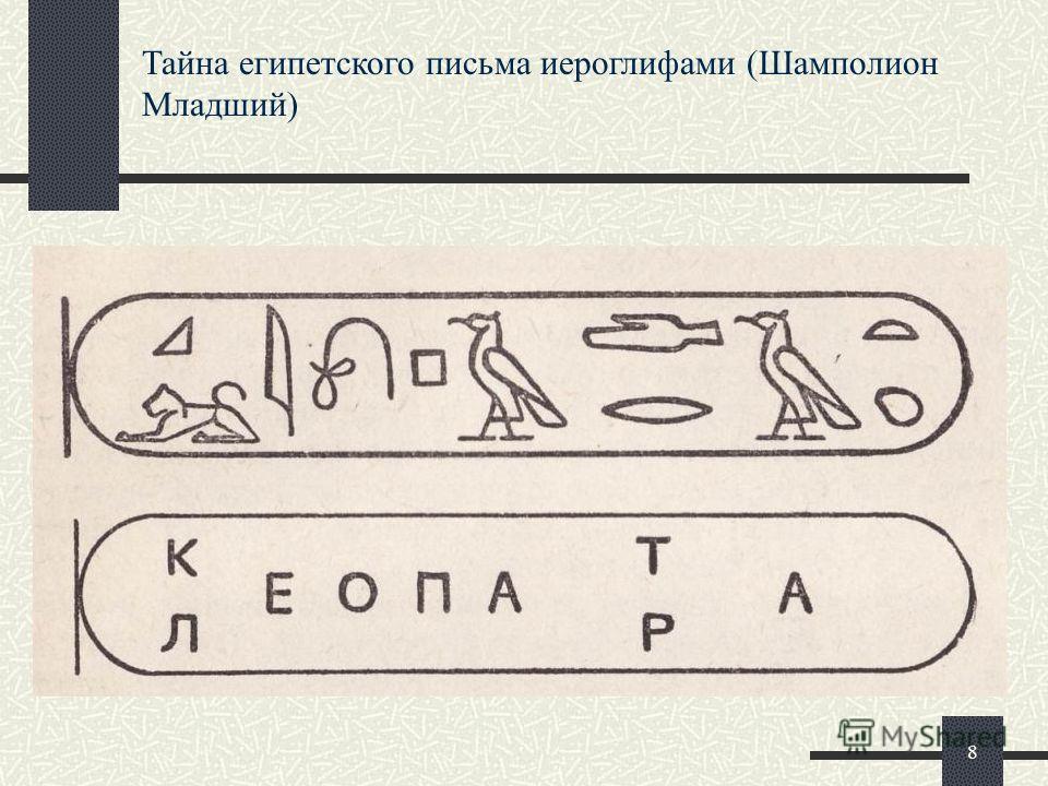 Тайна египетского письма иероглифами (Шамполион Младший) 8