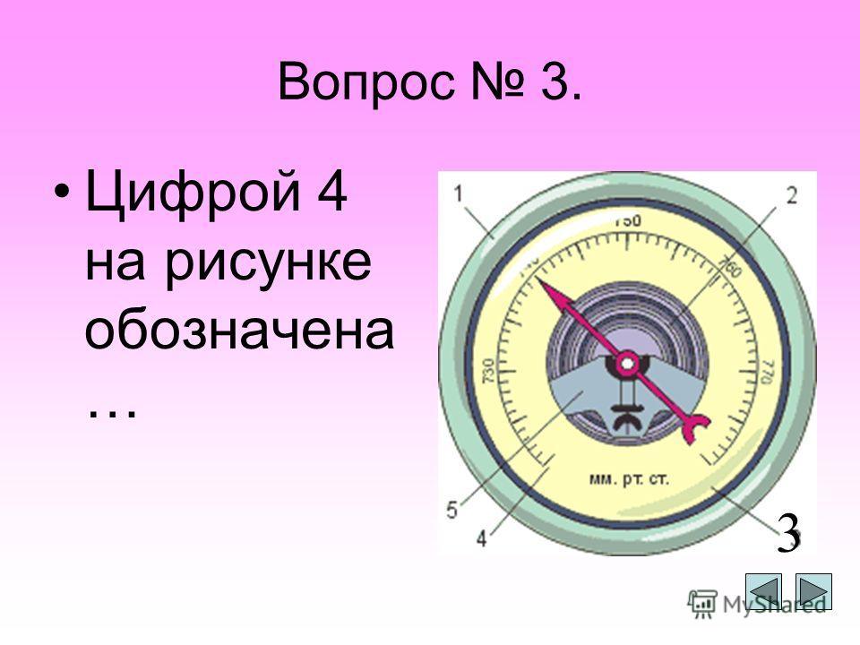 Вопрос 2. Цифрой 2 на рисунке обозначена … 2