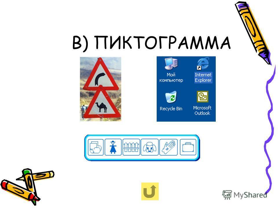 В) ПИКТОГРАММА