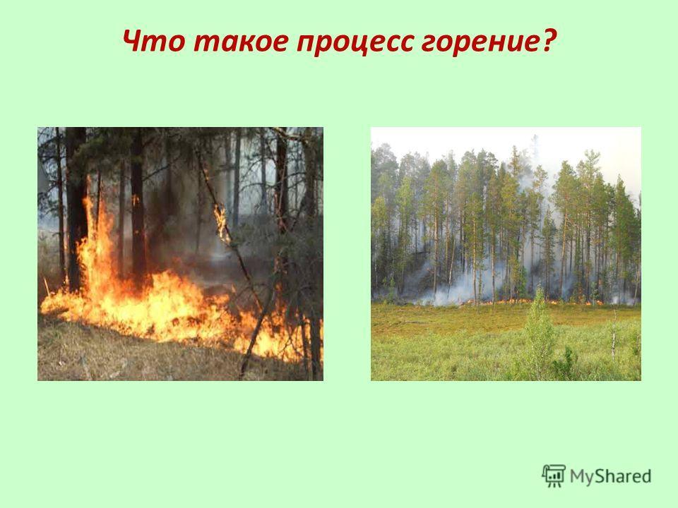 Что такое процесс горение?