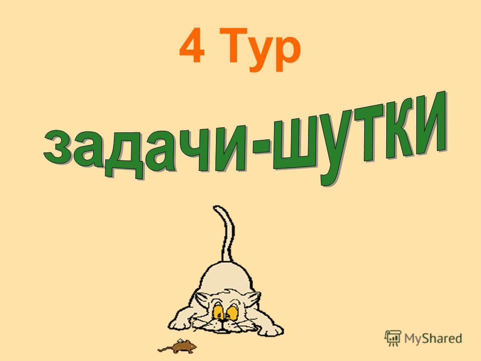 3 Тур Прошу подумать в тишине, Учтите, случай редкий, Сидела белка на сосне, На самой средней ветке, Потом вскочила вверх на пять, Потом на семь спустилась, Потом на девять взобралась, И на вершине очутилась!!! А сколько веток у сосны - Вы быстро выч