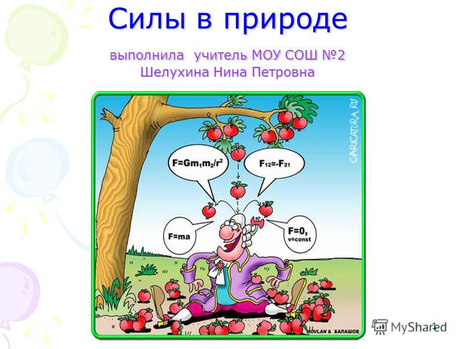 1 Силы в природе выполнила учитель МОУ СОШ 2 Шелухина Нина Петровна