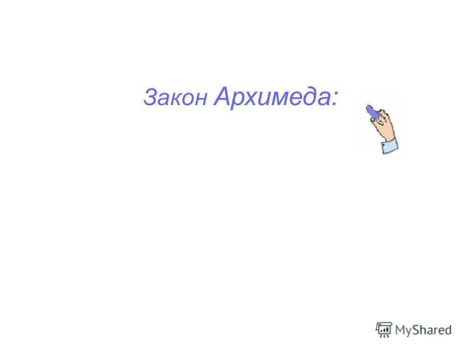 Закон Архимеда:
