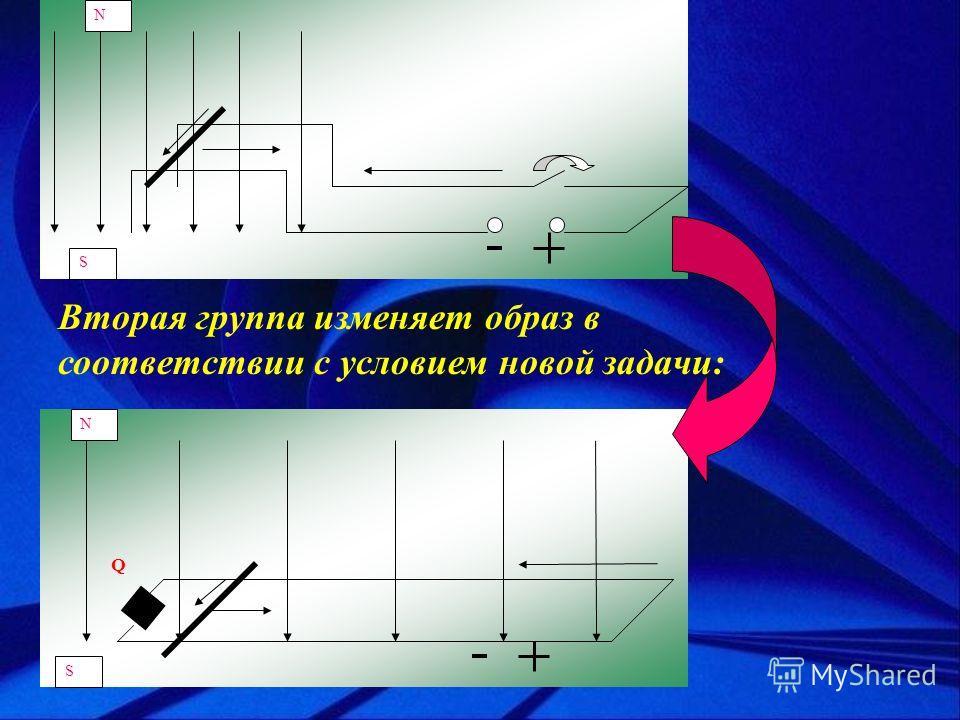 S N Q S N Вторая группа изменяет образ в соответствии с условием новой задачи: