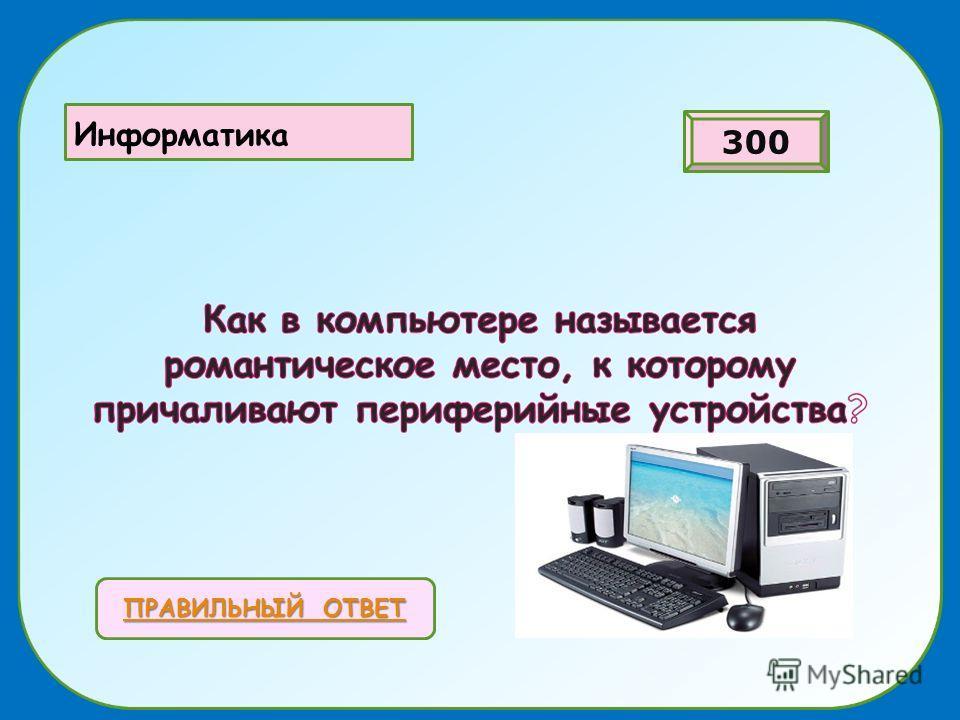 ПРАВИЛЬНЫЙ ОТВЕТ ПРАВИЛЬНЫЙ ОТВЕТ ИнИ Информатика 300