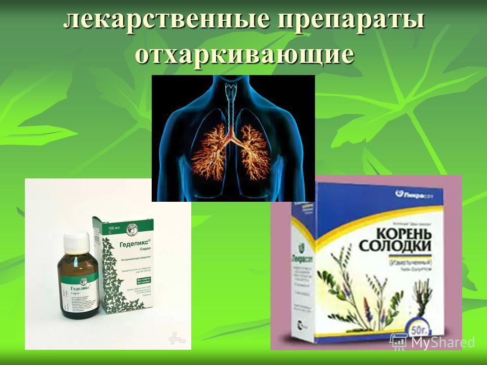 лекарственные препараты отхаркивающие