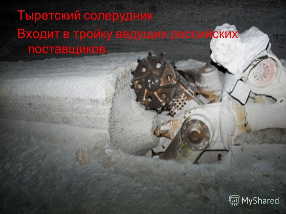 Тыретский солерудник Входит в тройку ведущих российских поставщиков.