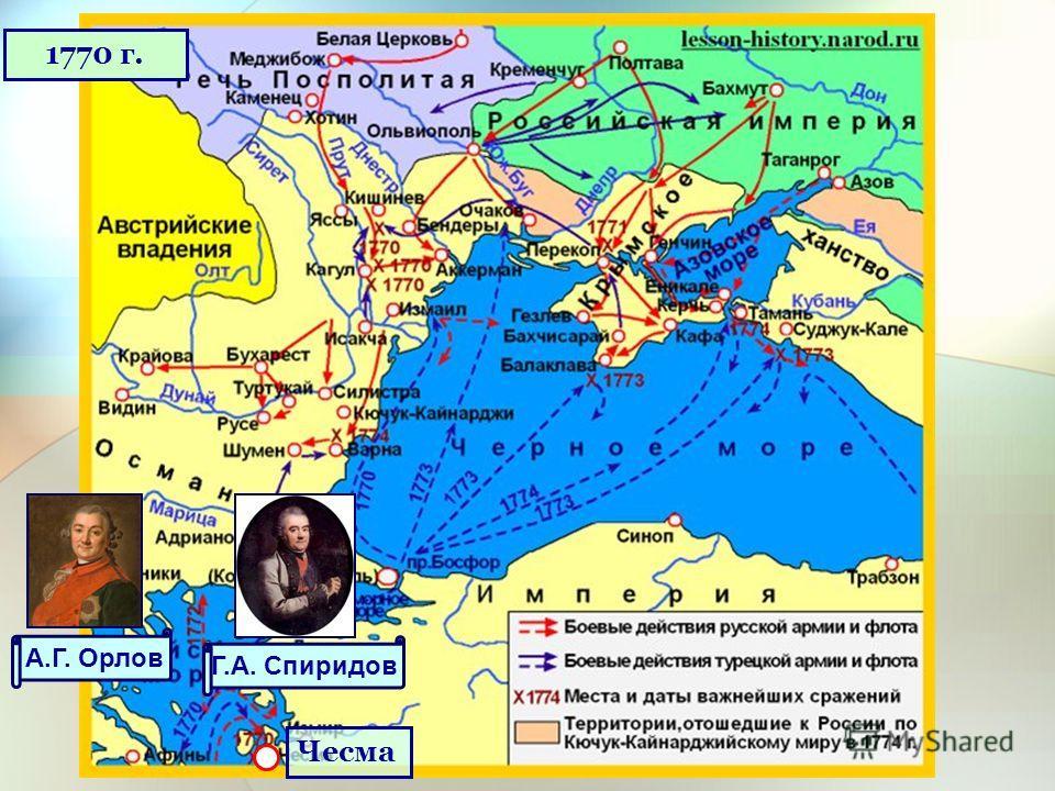 Чесма А.Г. Орлов Г.А. Спиридов 1770 г.