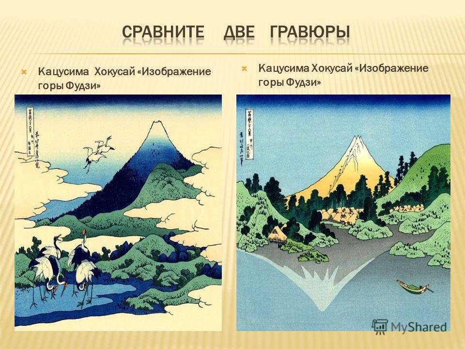 Кацусима Хокусай «Изображение горы Фудзи»
