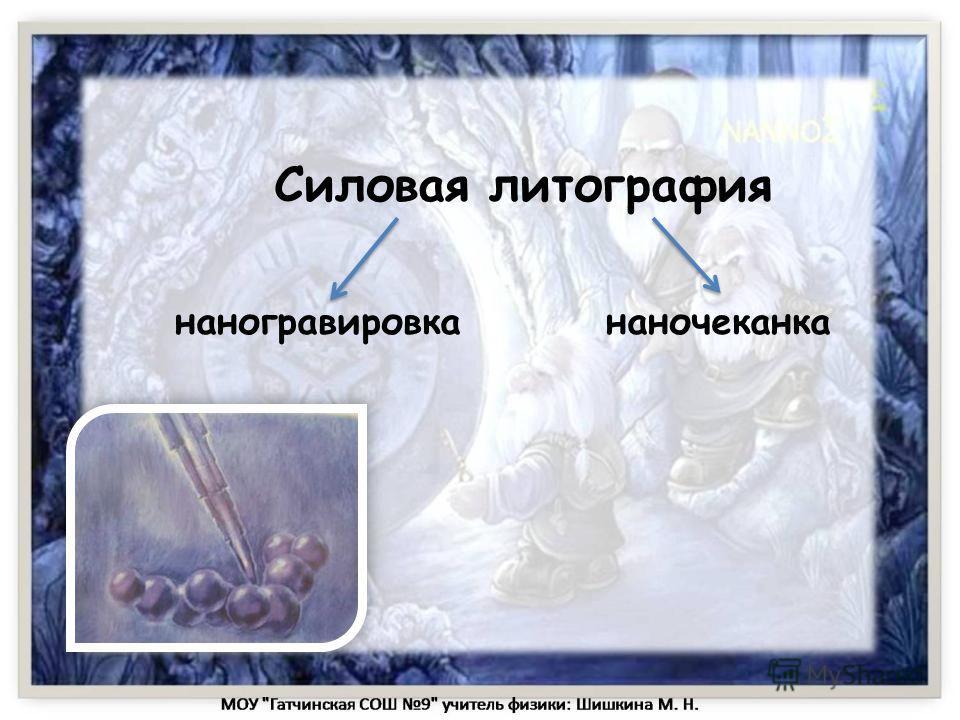 Силовая литография наногравировка наночеканка