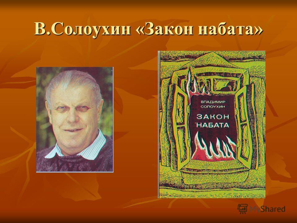В.Солоухин «Закон набата»