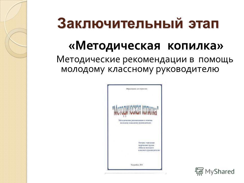 Заключительный этап « Методическая копилка » Методические рекомендации в помощь молодому классному руководителю