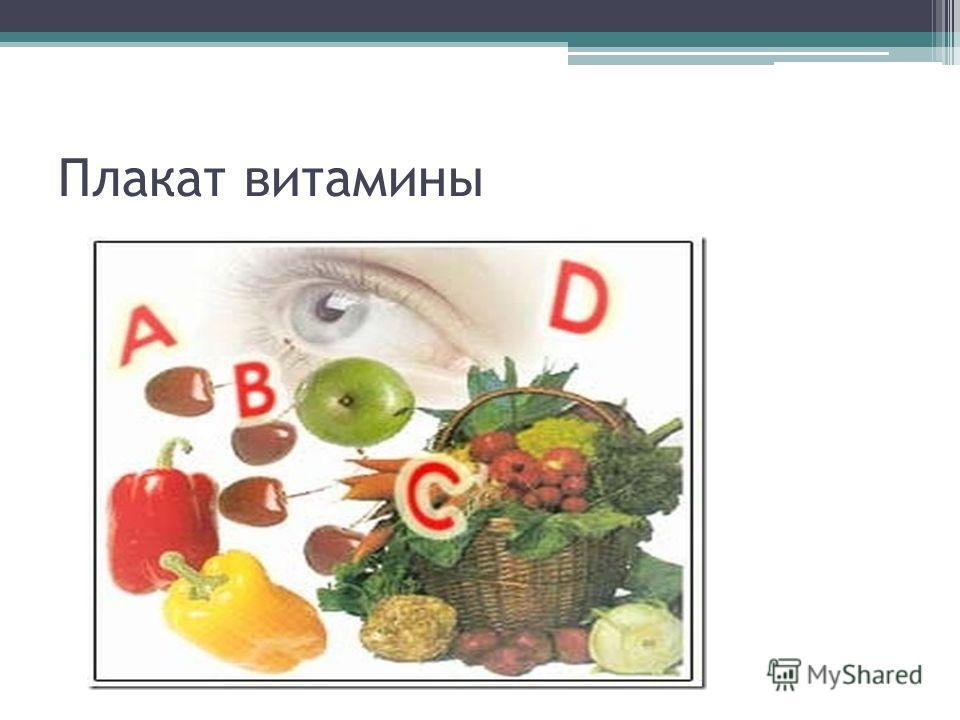 Плакат витамины