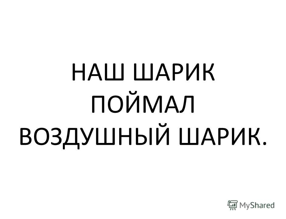 НАШ ШАРИК ПОЙМАЛ ВОЗДУШНЫЙ ШАРИК.
