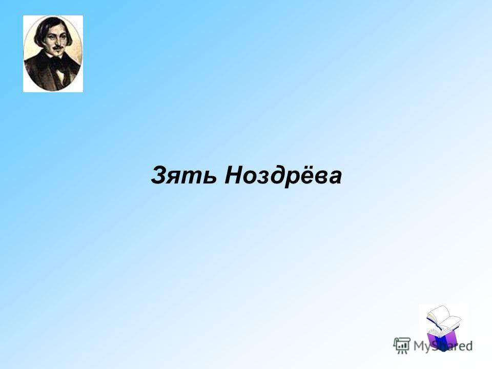 Зять Ноздрёва