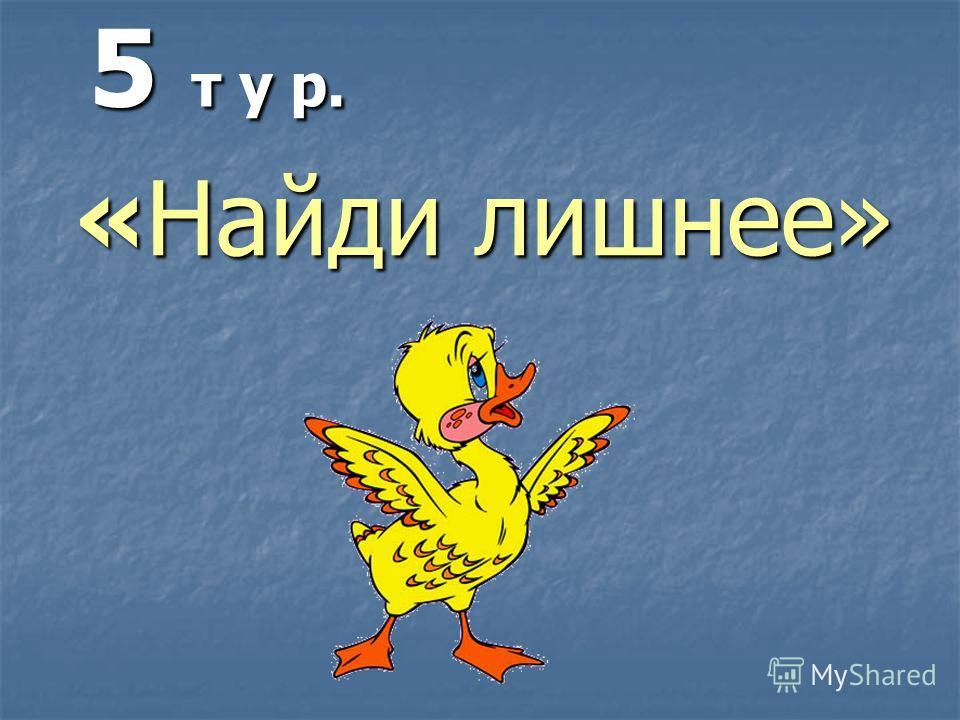 5 т у р. «Найди лишнее»