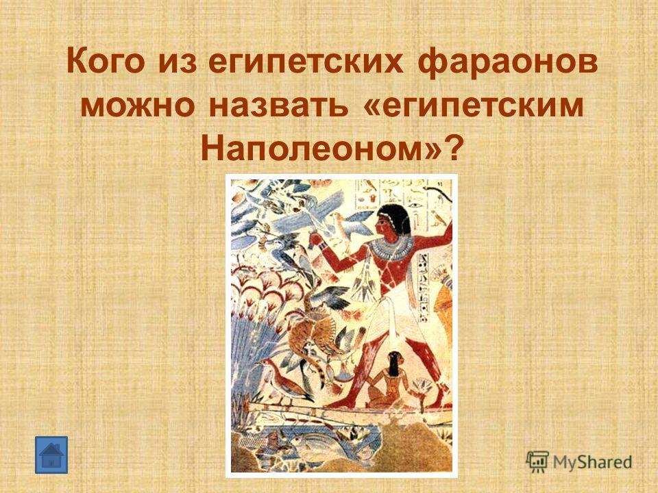 Кого из египетских фараонов можно назвать «египетским Наполеоном»?