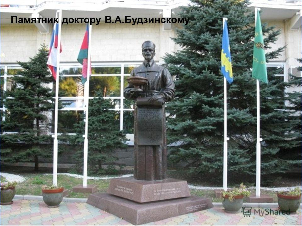 Памятник доктору В.А.Будзинскому