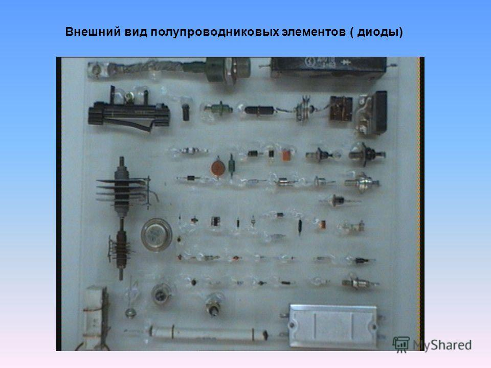 Внешний вид полупроводниковых элементов ( диоды)