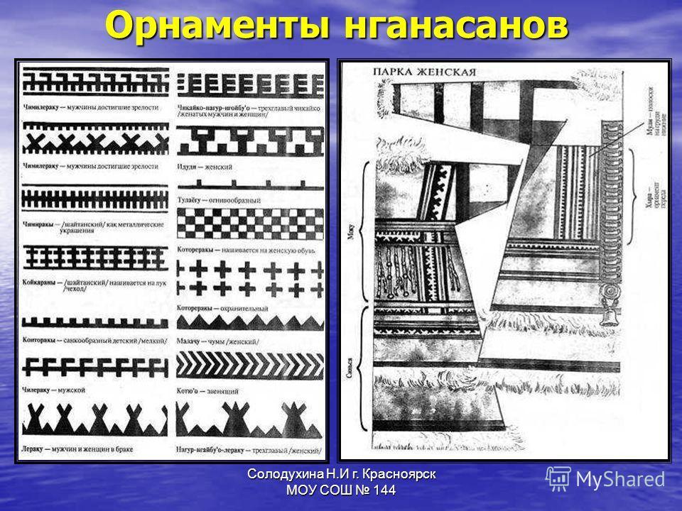 Солодухина Н.И г. Красноярск МОУ СОШ 144 Орнаменты нганасанов