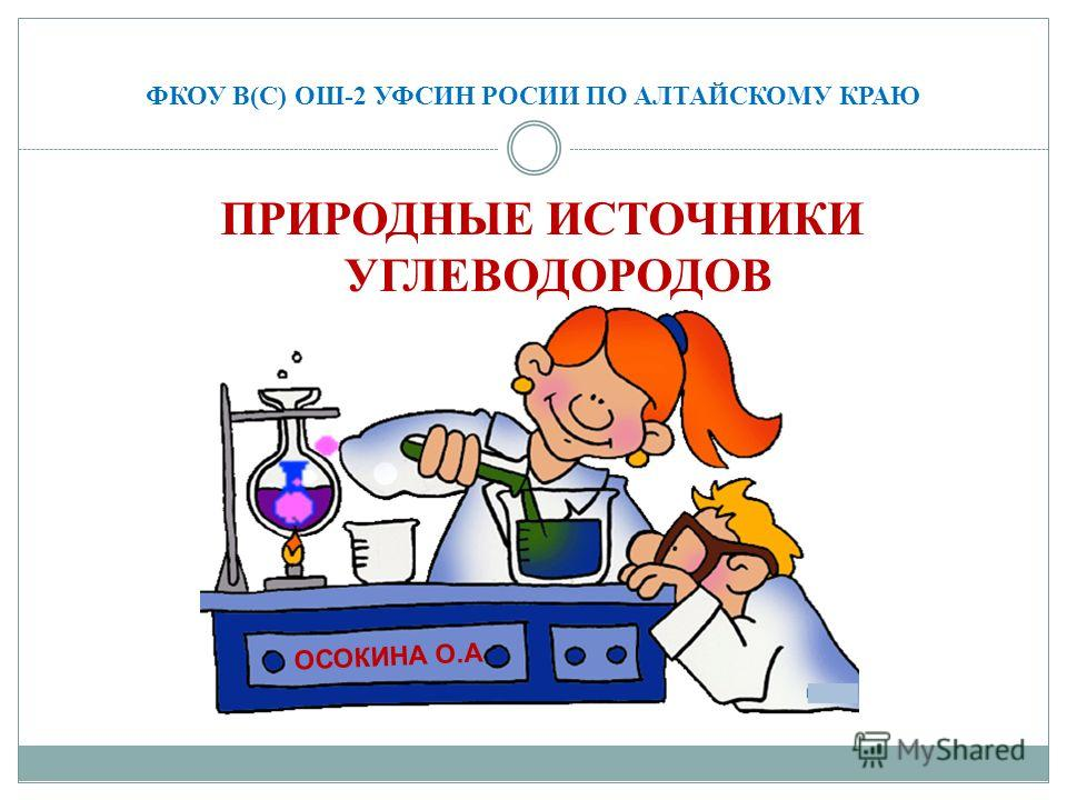 ФКОУ В(С) ОШ-2 УФСИН РОСИИ ПО АЛТАЙСКОМУ КРАЮ ПРИРОДНЫЕ ИСТОЧНИКИ УГЛЕВОДОРОДОВ ОСОКИНА О.А.
