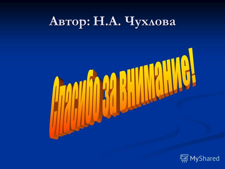 Автор: Н.А. Чухлова