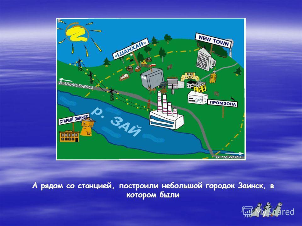 А рядом со станцией, построили небольшой городок Заинск, в котором были