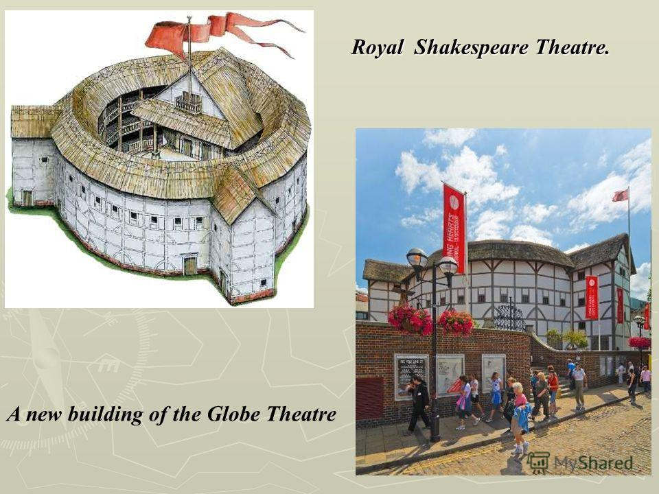 A new building of the Globe Theatre Royal Shakespeare Theatre.