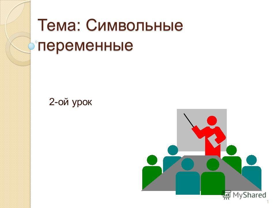Тема: Символьные переменные 2-ой урок 1