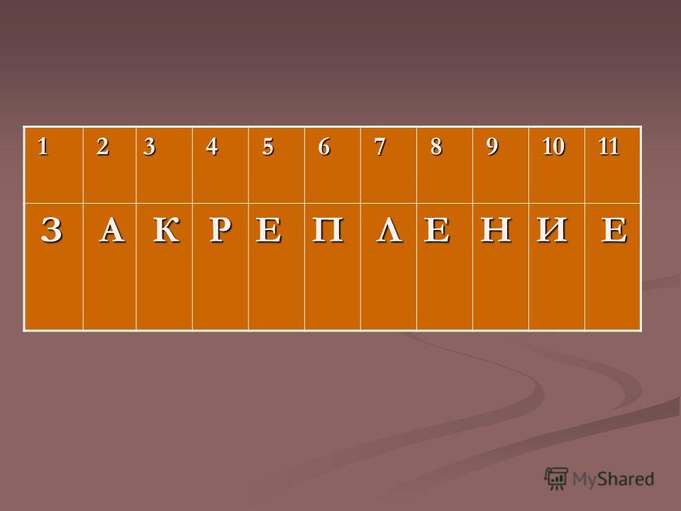 1 23 4 5 6 7 8 9 10 10 11 11 З А К РЕП ЛЕНИ Е
