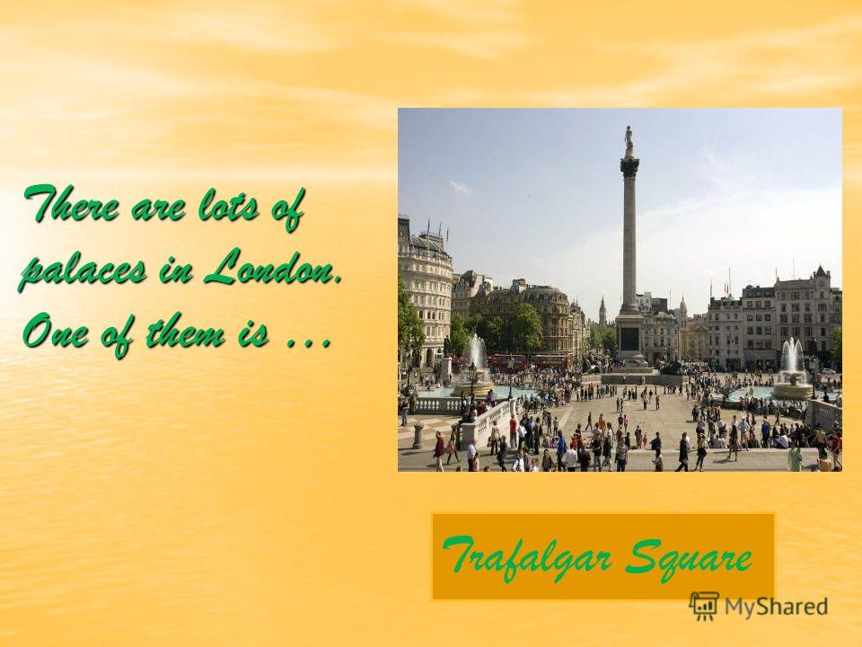 There are lots of palaces in London. One of them is … Trafalgar Square