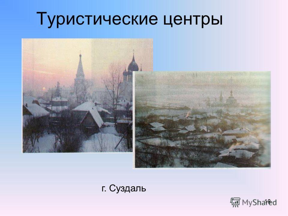 18 Туристические центры г. Суздаль
