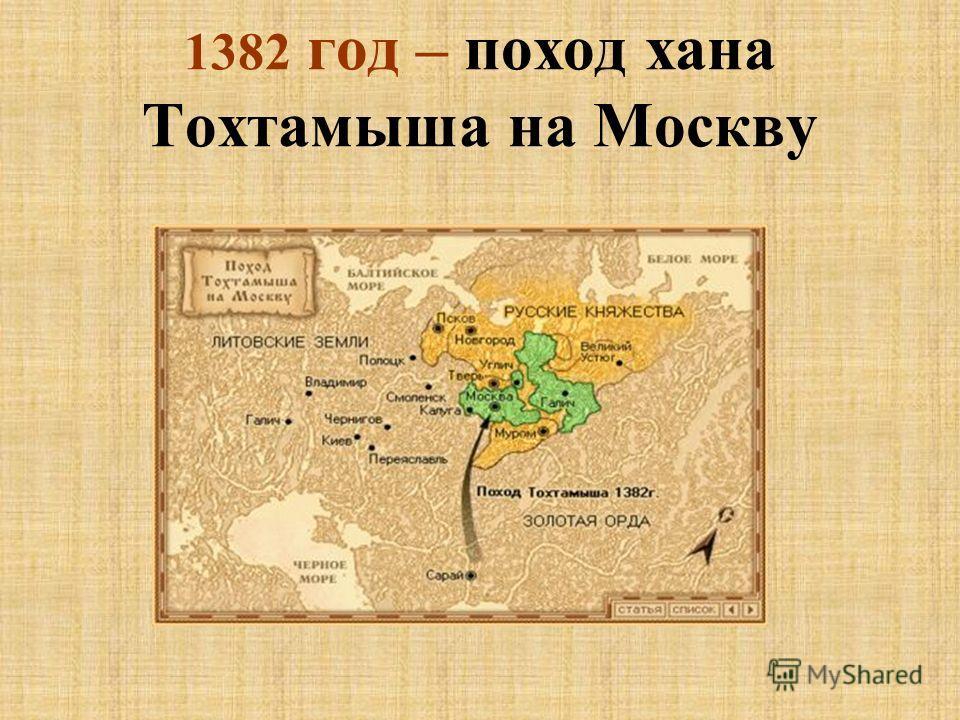 1382 год – поход хана Тохтамыша на Москву