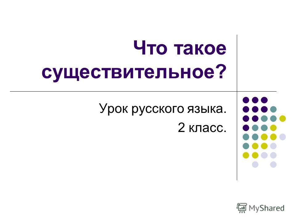 Что такое существительное? Урок русского языка. 2 класс.
