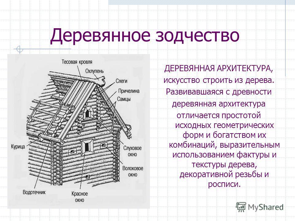 Зодчество деревянная архитектура