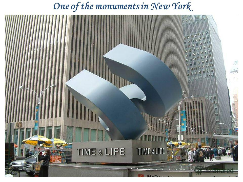 One of the monuments in New York