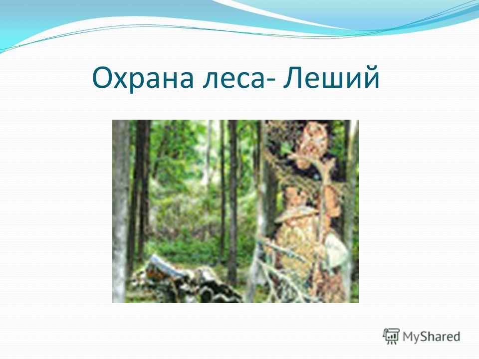 Охрана леса- Леший