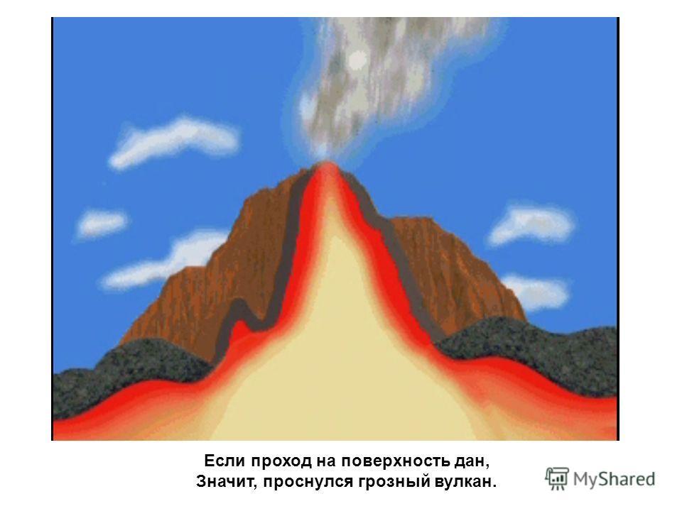 Магма по жерлу рвется наружу, Выход из кратера очень ей нужен.