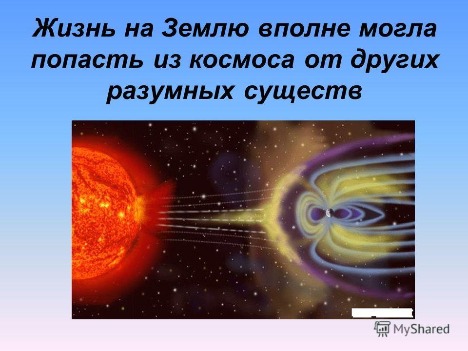 Жизнь на Землю вполне могла попасть из космоса от других разумных существ