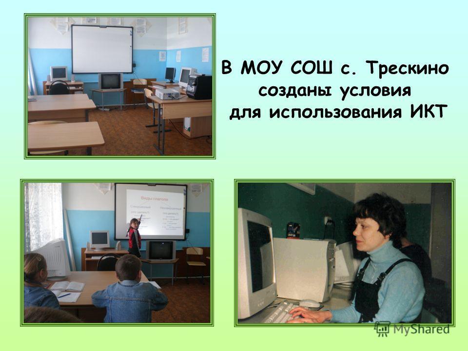 В МОУ СОШ с. Трескино созданы условия для использования ИКТ