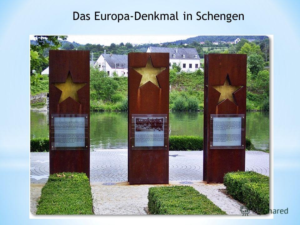 Das Europa-Denkmal in Schengen