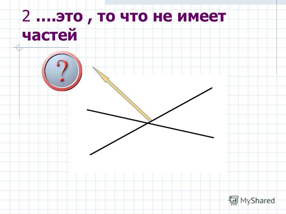 2 ….это, то что не имеет частей