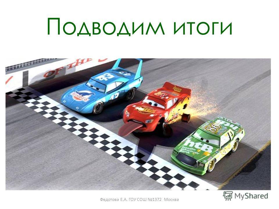 Подводим итоги Федотова Е.А. ГОУ СОШ 1372 Москва