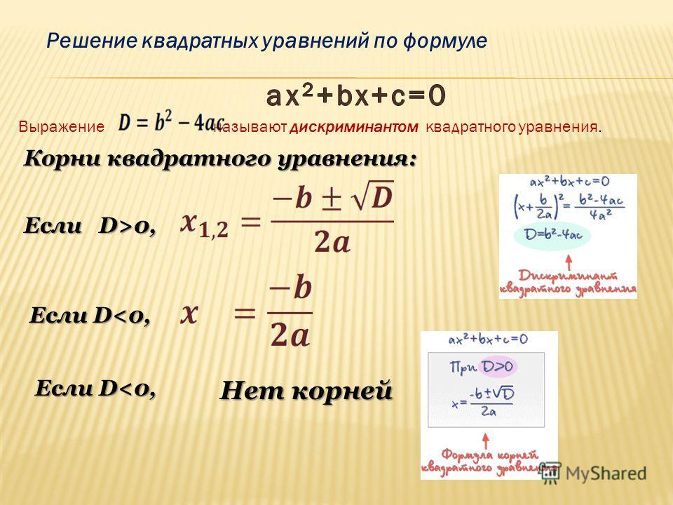 Решим уравнение: х 2 + 6х - 7 = 0. х 2 + 6х -7 = 0. (х +3) 2 – 16 = 0. (х +3) 2 = 16. х + 3 = 4; х + 3 = -4. х = 1, х =-7. Ответ: 1; -7. Метод выделения полного квадрата (a + b) 2 = a 2 + 2ab + b 2, (a - b) 2 = a 2 - 2ab + b 2.