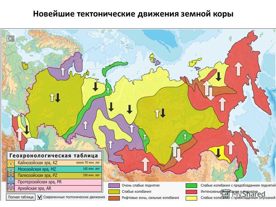 Новейшие тектонические движения земной коры