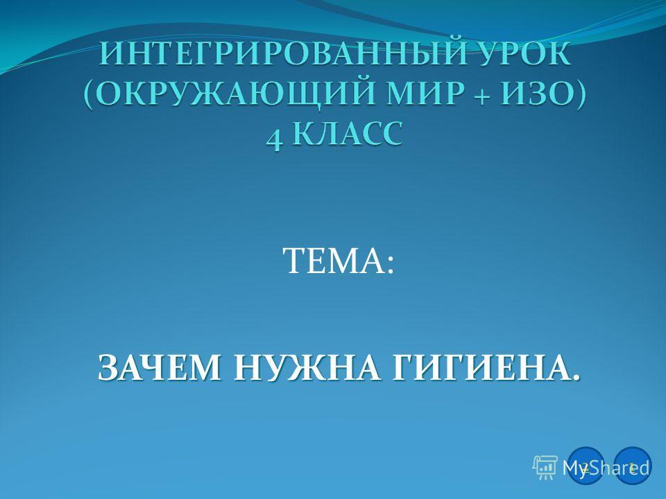 ТЕМА: ЗАЧЕМ НУЖНА ГИГИЕНА. 12