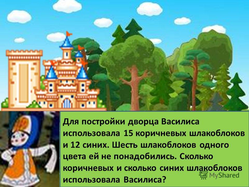 123 Первая Василиса не ткала скатерть-самобранку. Вторая не строила дворец и не ткала скатерть- самобранку. Что может делать каждая Василиса? - - - + + - - + -