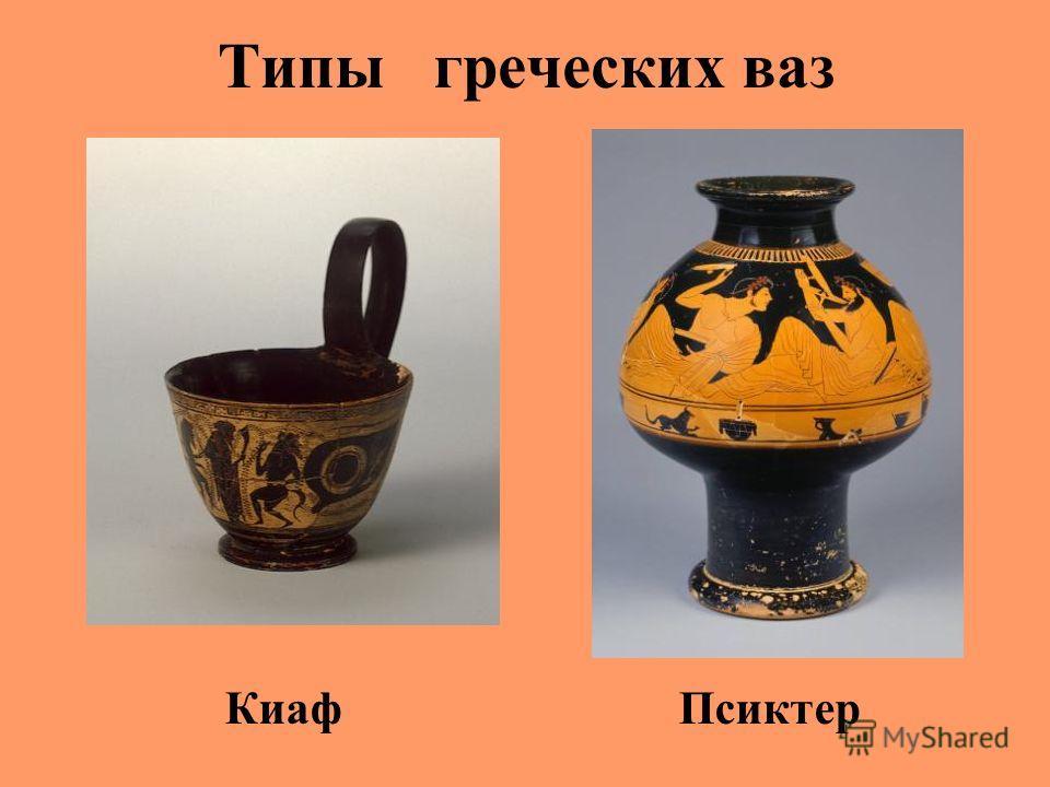 Типы греческих ваз Киаф Псиктер